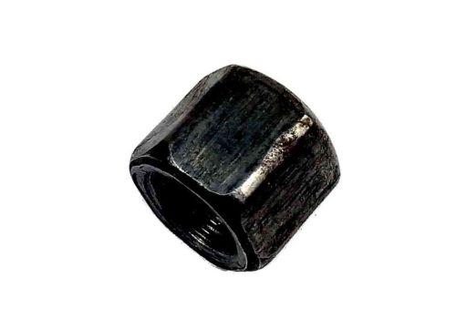 "1/4"" BSP Black Malleable Iron Blanking Cap / Blank Nut"
