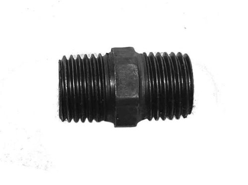 1/4 Inch BSP Black Iron Hex Nipple