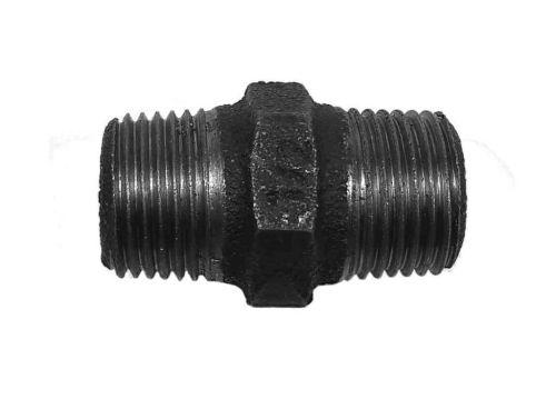 1/2 Inch BSP Black Iron Hex Nipple