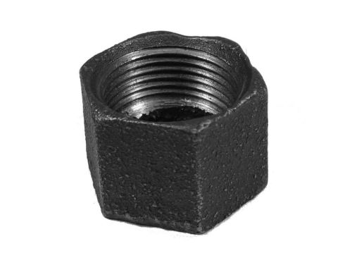 "Black Malleable Iron Blanking Cap 3/4"" BSP"