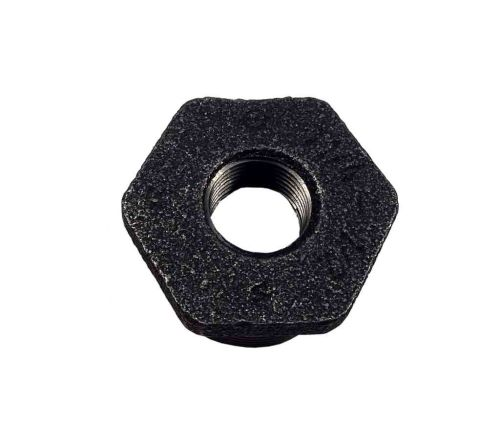 "1-1/4"" x 1/2"" BSP Black Malleable Iron Reducing Bush"