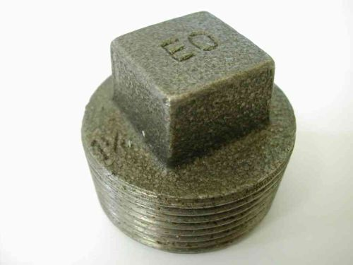 "1-1/4"" BSP Black Malleable Iron Blanking Plug"