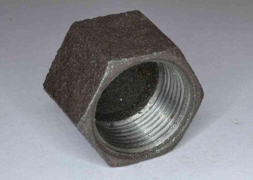 3/4 Inch BSP Black Iron Cap / Blank Nut