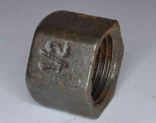 1/2 Inch BSP Black Iron Cap / Blank Nut