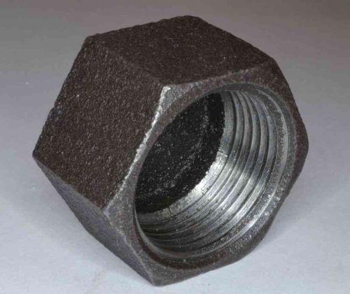 1 Inch BSP Black Iron Cap / Blank Nut
