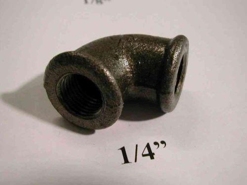 1/4 Inch BSP Black Iron Elbow   FxF Female x Female
