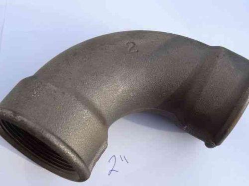 2 Inch BSP Black Iron Elbow | FxF Female x Female