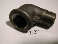 1/2 Inch BSP Black Iron Elbow | Male x Female