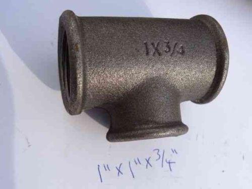 1 Inch x 1 Inch x 3/4 Inch BSP Black Iron Tee