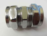Chrome Plated 22mm Compression Coupling