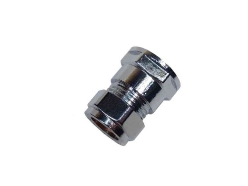 "Chrome 15mm Compression x 1/2"" BSP Female Iron Adaptor"