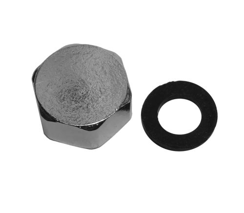 """1/2"""" BSP Chrome Blanking Cap With Washer"""