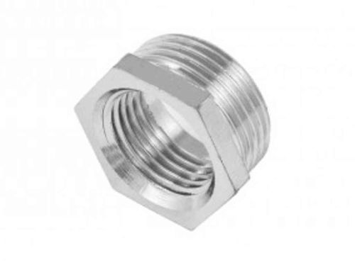 Chrome Plated 3/4 Inch x 1/2 Inch BSP Hex Bush