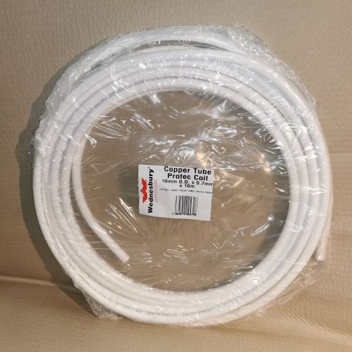 10mm White Plastic Coated Copper Oil Pipe 10m Coil