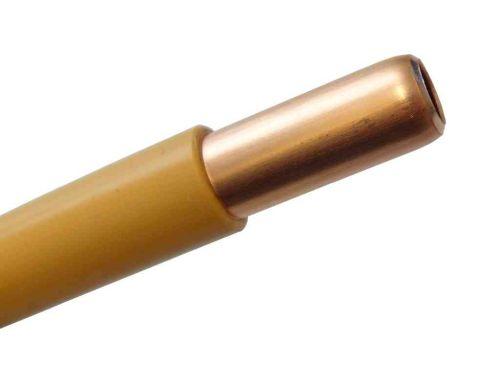 10mm Copper Pipe Yellow Plastic Coated Per Metre