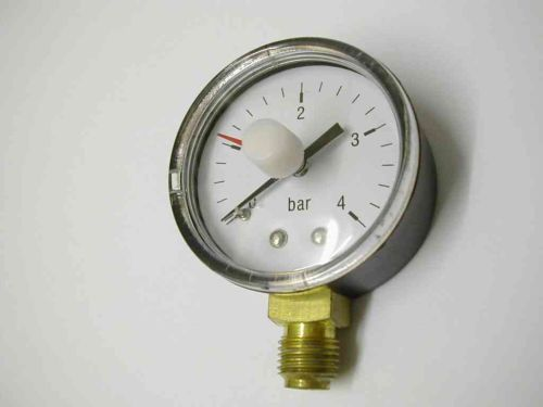 Pressure Gauge | 4 Bar 1/4 Inch BSP Bottom Entry