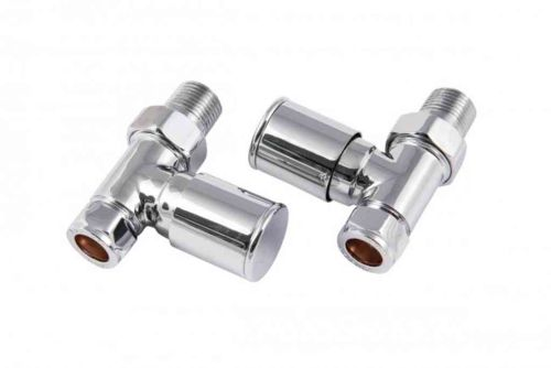 Towel Rail Radiator Valves Straight 15mm (Pair)