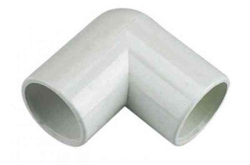 Overflow Elbow 21.5mm Solvent Weld PVC-U