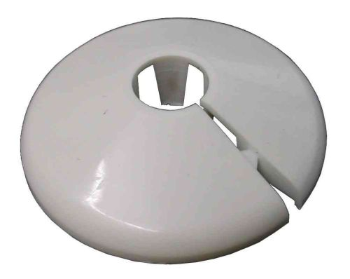 10mm White Radiator Pipe Cover / Collar