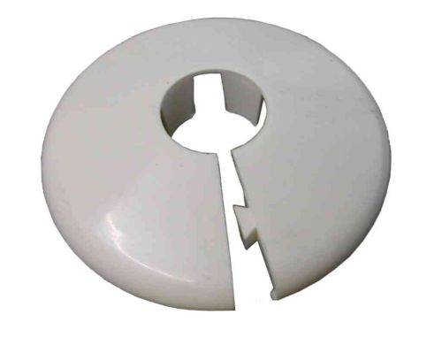 15mm White Radiator Pipe Cover / Collar