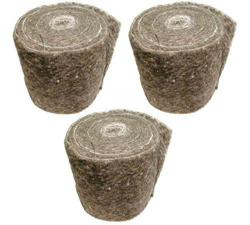 Pipe Insulation Lagging Wool Felt Wrap | Pack of 3 x 7 Metre Long Rolls