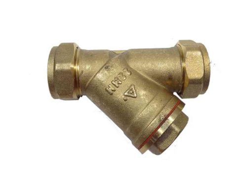 22mm Brass In-Line Y Strainer / Filter