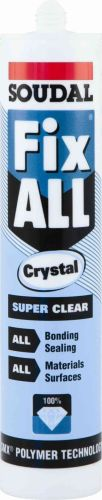 Soudal Fix All Crystal Clear 290ml Cartridge