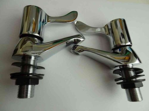 Lever Wash Hand Basin Taps | Pair