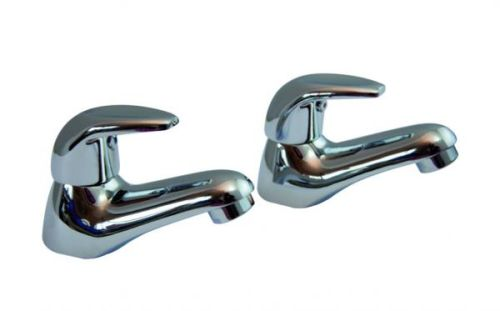 Cromo Basin Lever Taps (Pair)