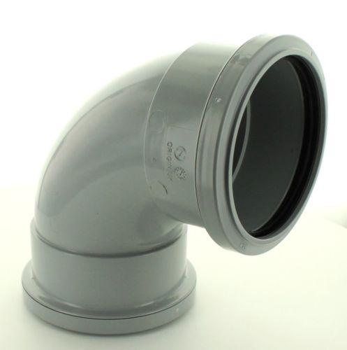 110mm Push Fit Female x Female Elbow Grey