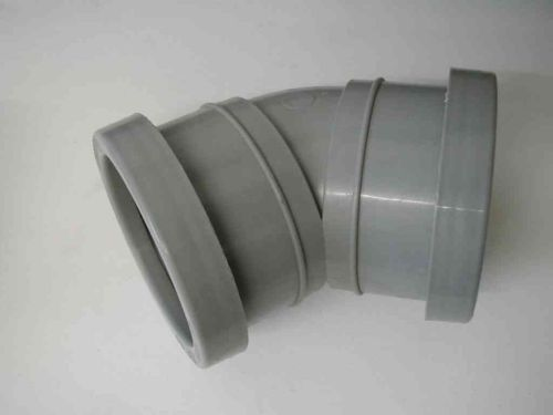 2 Inch Waste Push-fit 45 Degree Elbow Grey