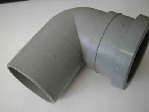 2 Inch Waste Push-fit 90 MxF Male x Female Elbow Grey