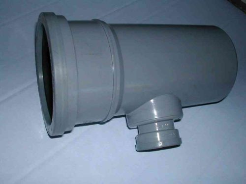 110mm x 1-1/4 Inch Waste Push-fit Tee Grey