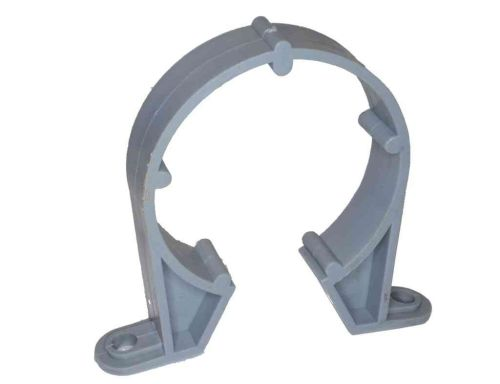 2 Inch Waste Pipe Clip Grey