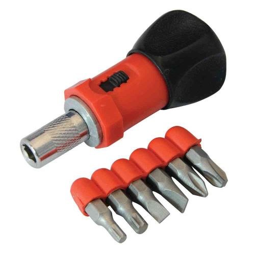 Stubby Ratchet Screwdriver and Bits