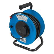 25m Extension Lead Cable Reel | 2 x 13A Sockets