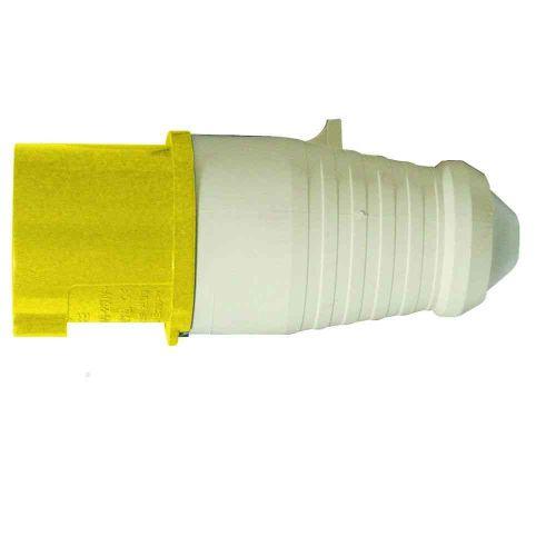 110V 16A Yellow Industrial Plug IP44 3 Pin