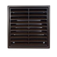 """Brown Fixed Louvre Ventilation Outlet Grille 100mm (4"""")"""