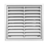 """White Fixed Louvre Ventilation Outlet Grille 100mm (4"""")"""