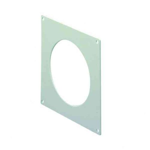 100mm Ducting White Wall Plate
