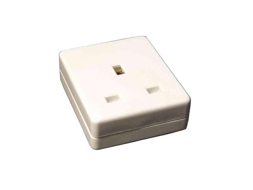 Trailing 13A Plug Socket 1 Gang