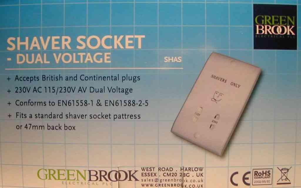 Bathroom Shaver Socket 2 Gang Size | Stevenson Plumbing & Electrical ...