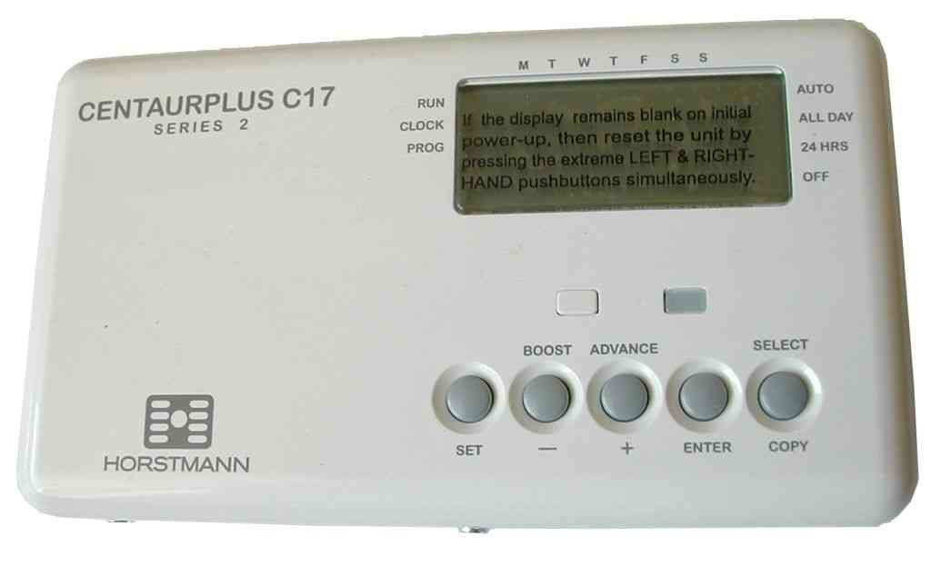 Horstmann CentaurPlus C17 Time Switch 7 Day Electronic Central Heating Timer