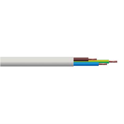 3 Core Flexible Cable   White   0.75mm / Per Metre