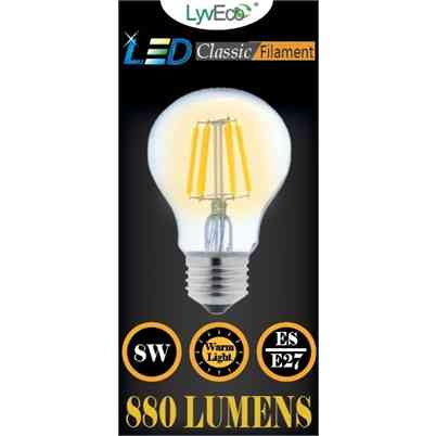 LED Bulb | GLS | 8W Filament | ES