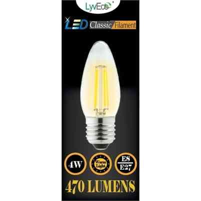 LED Bulb   Candle   4W Filament   ES