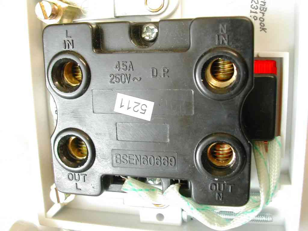 45a Pull Cord Shower Switch Double Pole Stevenson