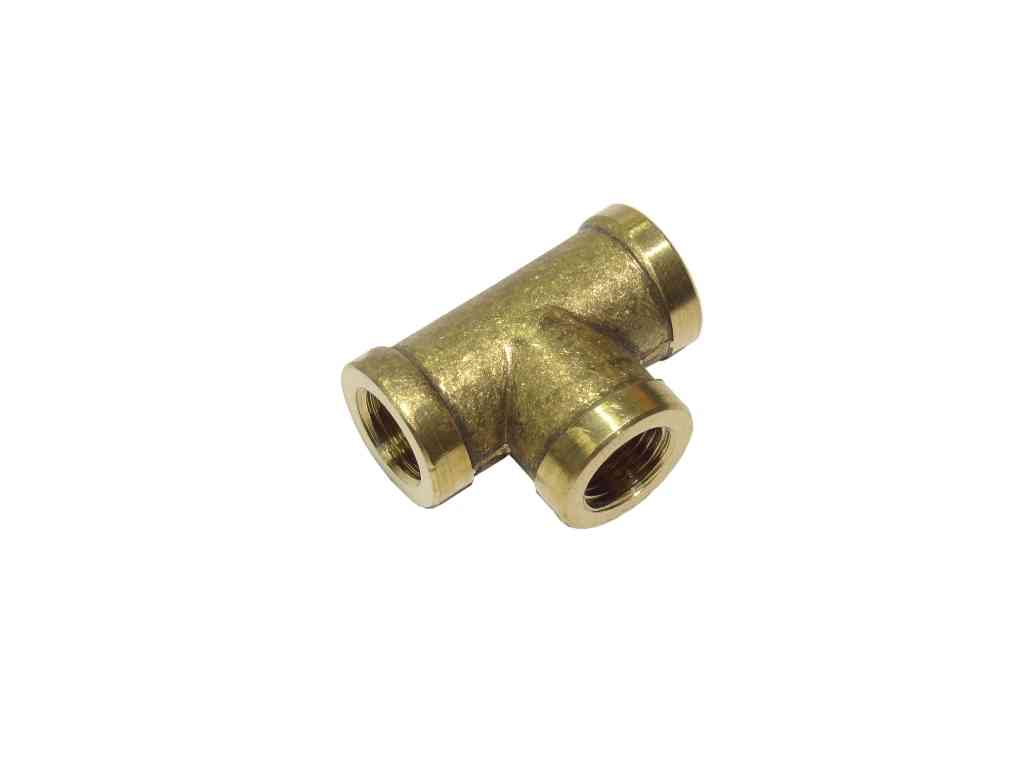 4 In Duct Fittings : Inch bsp brass equal tee british standard pipe