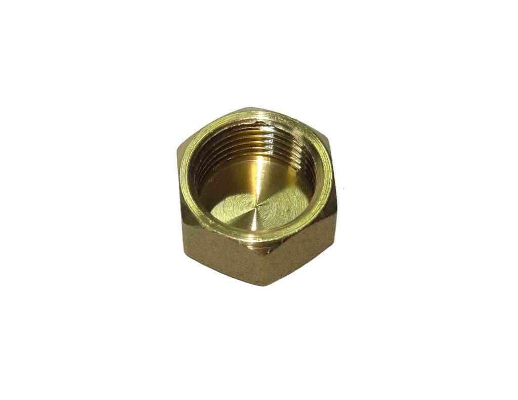 3/8 Inch BSP Brass Cap / Blank Nut