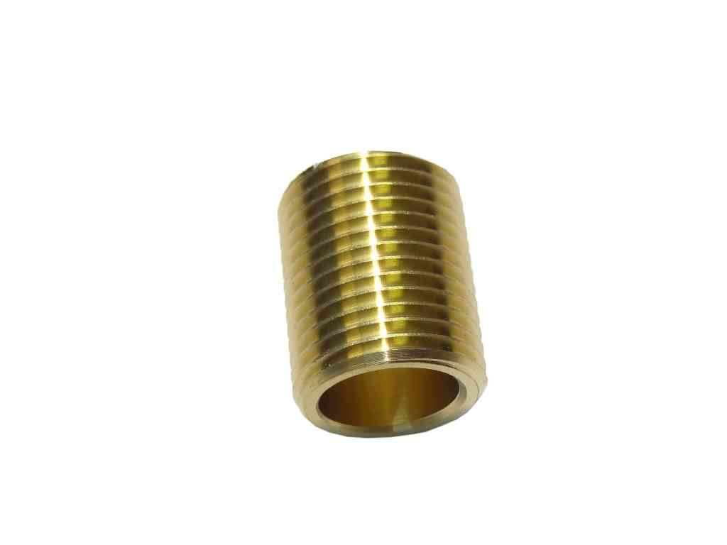 Inch bsp brass running nipple british standard pipe